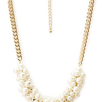 FOREVER 21 Dainty Chain Necklace Cream/Gold One