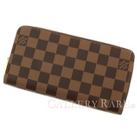 LOUIS VUITTON Zippy Wallet Damier Canvas Ebene N41661 Spain Authentic 4510871