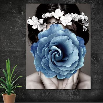 Wall Pictures art portrait modern wall Wall art abstract print figure on canvas painting art print canvas Picture decor poster
