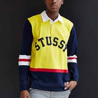 Stussy Rugby Polo Shirt- Yellow