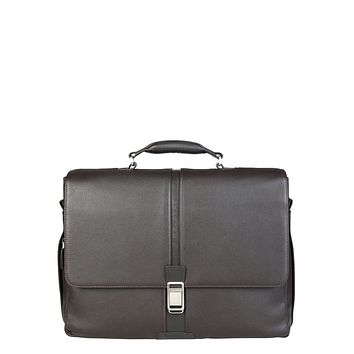 Piquadro - Men's Brown Leather Briefcase