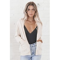 Sweater Weather Ivory Cardigan Top