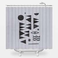 Tangential Paralysis Shower Curtain