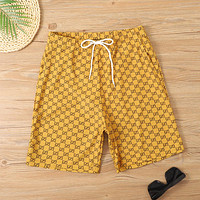GG Multicolor Double G Shorts Yellow