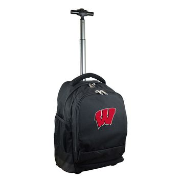 Wisconsin Badgers Wheeled Premium Backpack