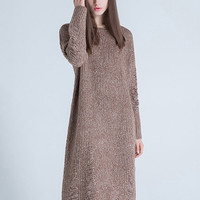 Thick Long Wool Knitted Sweater