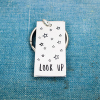 Look Up - Stars - Aluminum Key Chain