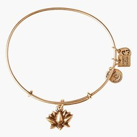 Women's Alex and Ani 'Lotus Blossom' Expandable Wire Bangle - Russian Gold