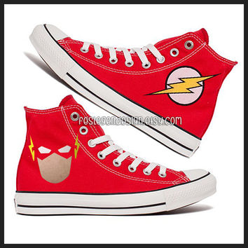 The Flash Custom Converse / Painted Shoes