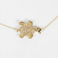 Women's Turtle Necklace in Gold by Daytrip.