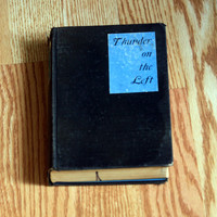 Antique Book from 1926 - Thunder on The Left - Paper Crafts - Decor
