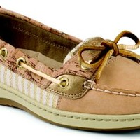 Sperry Top-Sider Angelfish Cork Slip-On Boat Shoe Sand/GoldCork, Size 9.5M  Women's Shoes