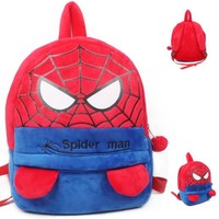 Toddler Backpack class Cute Children Backpack Kindergarten Plush Schoolbags Cartoon Spiderman Baby Toddler 3-4 years old Satchel Gifts Toy mochila AT_50_3
