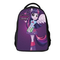 2017 new style cotton my little pony child school bags for Teenagers Girls Backpack Kids School Bags Horse Bag Child Mochila