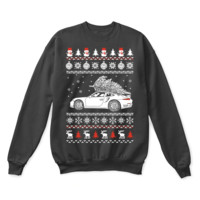 Porsche 911 Brings Christmas Home Ugly Sweater