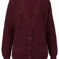 Knitted Textured Stitch Cardi - Knitwear - Clothing - Topshop USA