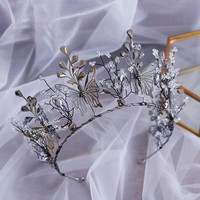 European Rhinestone Crystal Wedding Tiara