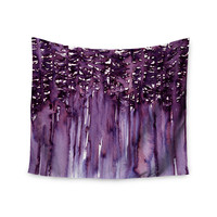 "Ebi Emporium ""Forest Through The Trees 2"" Purple White Wall Tapestry"