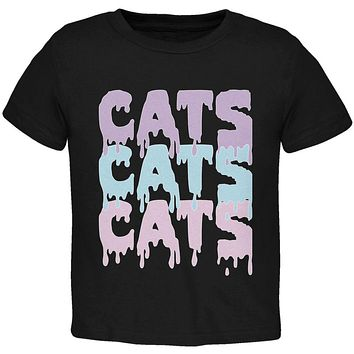 Halloween Cats Cats Cats Toddler T Shirt