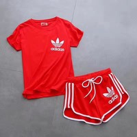"shosouvenir""Adidas"" Print Short sleeve Top Shorts Pants Sweatpants Set Two-Piece Sport"