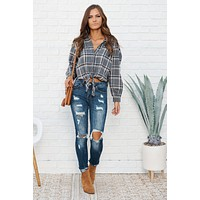 Kia Flannel Top (Grey)