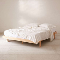 Luka Wood Platform Bed - Urban Outfitters
