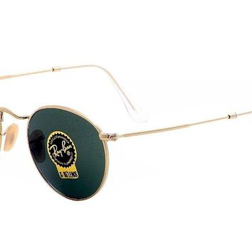 Ray Ban Round Metal RB3447 RB/3447 001 Arista Gold RayBan Sunglasses 50mm