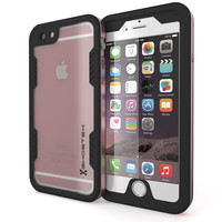 iPhone 6+/6S+ Plus Waterproof Case, Ghostek Atomic 2.0 Pink w/ Attached Screen Protector
