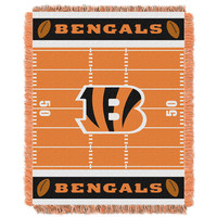 Cincinnati Bengals NFL Triple Woven Jacquard Throw (Field Baby Series) (36x48)