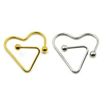 Daith Heart Nipple Ring Barbell Piercing Shield Jewelry 14g