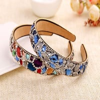 Hairwear Colorful Crystals Women Rhinestone Trendy Tiaras Hairbands Wedding Fashion Jewelry Bride Fine Hair Accessories
