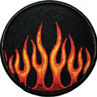 Flames Iron-On Patch Round