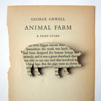 Animal Farm  Pig brooch Classic book brooches made by houseofismay