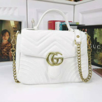 GUCCI Women Fashion Leather Tote Crossbody Shoulder Bag Satchel