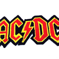 AC/DC Heavy Metal Band iron on patch. (4.25 x 1.9 inch)