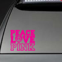 """Victoria's Secret, """"Peace, Love, Pink"""" - Car, Laptop, Cell Phone Decal - Free Shipping"""