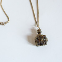 Antique Jar Locket Long Necklace from Papers & Peonies