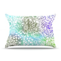 "Vikki Salmela ""Blue Bloom Softly for You"" Pillow Case"