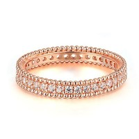 DCCKU62 Classic Wedding & Engagement AAA+ Cubic Zirconia Ring Rose Gold Color Fashion Cubic Zriconia Jewelry For Women DFR490