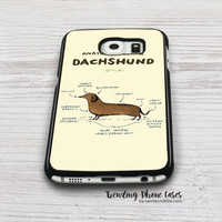 Anatomy of  Dachshund Samsung Galaxy S6 Case Cover for S6 Edge S5 S4 Case