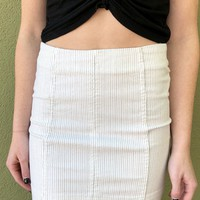 "Free People ""Modern Femme"" Skirt- Black/ White"