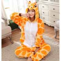 Cheap DHL One Piece Womens The Adult Giraffe Cheap Halloween Christmas Kigurumis Onesuit Footed Pajamas Costumes Pyjamas Japan