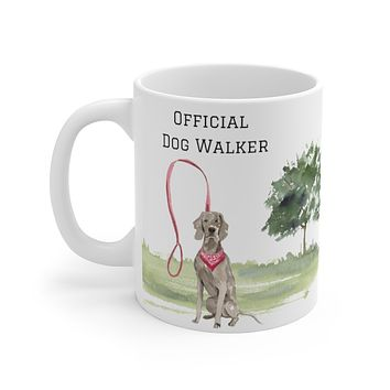 Official Dog Walker Mug — Weimaraner