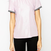 Noisy May Tall T-Shirt With Contrast Trim