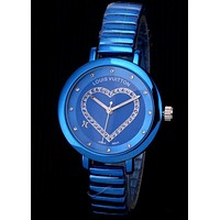 LV tide brand female models diamond love high-grade quartz watch
