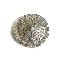 Sterling Silver Formed Wire Layered Brooch or Pendant Vintage Art Deco