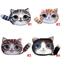 Small Tail Cat Coin Purse Cartoon Wallet Coin Pouch