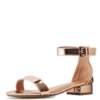 Bamboo Two-Piece Low Heel Sandals