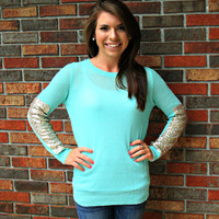 Time to Shine Sweater Mint