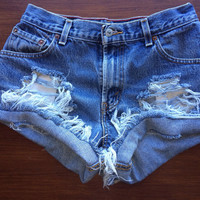 Size 0 Levi's High Waisted Jean Shorts